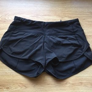 Size 2 lulu lemon black speed shorts